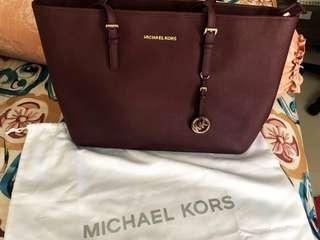 Michael Kors Tote Bag Maroon ORIGINAL