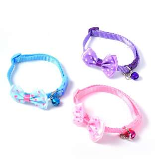 CAT COLLAR BOWKNOT POLKADOT