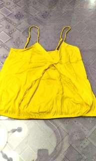 Slightly used Original.Zara bright yellow.spaghetti strap from.Spain
