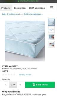 Ikea junior bed mattress (most high quality one)