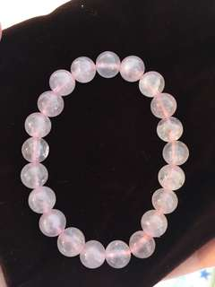 水晶手鏈 粉晶