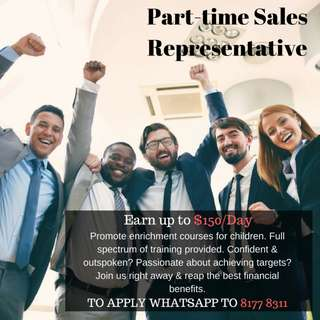 Sales ambassadors are welcomed!