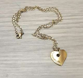 Chic New york heart charm stainless steel necklace