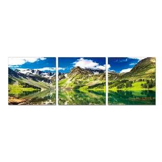 Green Mountain Acrylic Print 3 Piece