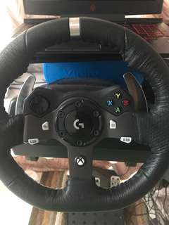 LOGITECH G920 STEERING WHEEL WITH GEAR. FULL DRIVING SIMULATOR.