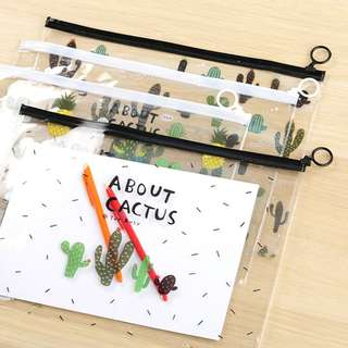 About Cactus Zipper File Folder A4
