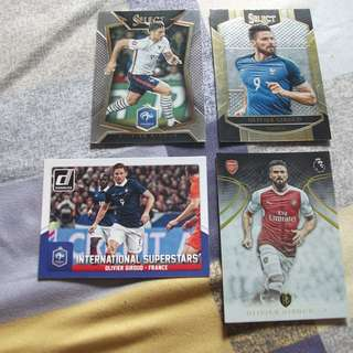Olivier Giroud Panini/Topps trading cards for sale/trade