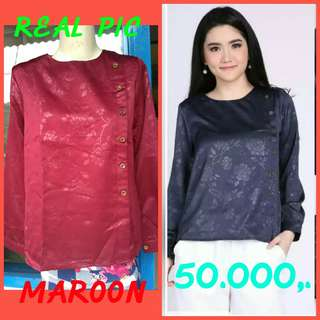 Blouse embos jaguard all size