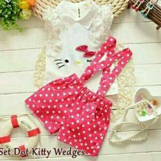 Set kitty dot 2in1 Pink