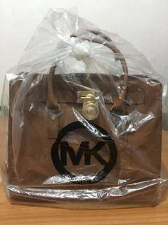 Michael Kors Luggage Type Tote Leather Bag (Authentic)