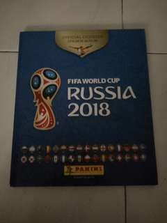 Hard Cover Panini 2018 Sticker Album