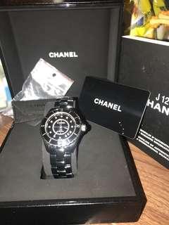 Chanel手錶J12鑽石款黑色