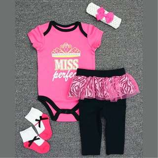 Rompers - Pink MISS PERFECT 4pcs Set