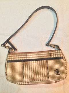 Pre-loved authentic Ralph Lauren houndstooth bag