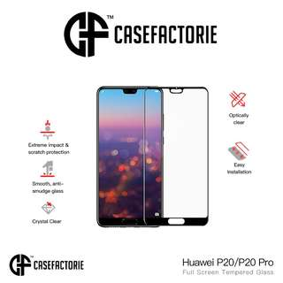 Casefactorie 9H Full Tempered Glass for Huawei P20/P20 Pro
