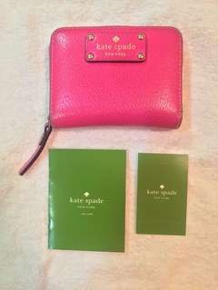 50% off! Pre-loved authentic Kate Spade pink wallet (small)