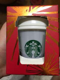 Starbucks ornament with LED