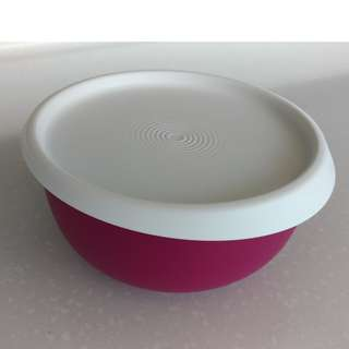 Tupperware Purple blossom one touch bowl 550ml