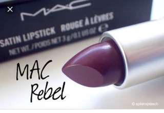 MAC lipstick in shade REBEL