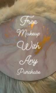 Free makeup with any purchase