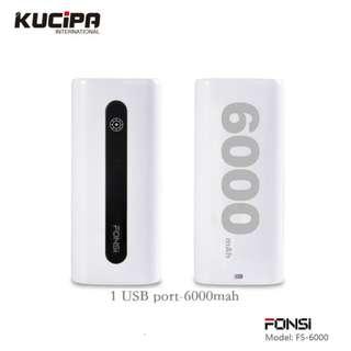 Hongkong KUCIPA powerbank F05-6000mah
