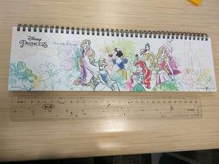 🚚 Disney 迪士尼公主線圈週日誌記事本