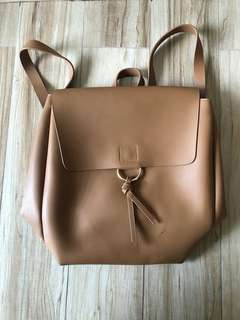 Knotted Ring Flap Backpack