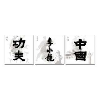 Kung Fu Bruce Lee China Acrylic Print 3 Piece