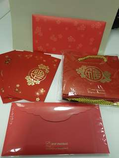BNP Paribas Red Packets & Carrier Bag Set