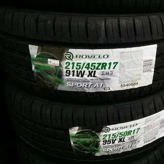Rovelo 215/45R17 New Tyre