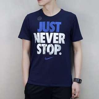 保證正品✨ nike Just Never Stop Dri-Fit 短袖 圓領 棉 T恤 丈青