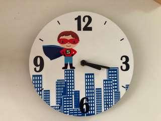 Custom made Superhero Wall Clock