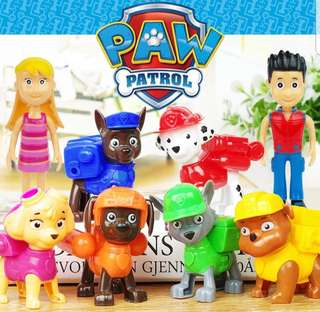 Paw Patrol Cake figurine/Cupcake/Muffin Toppers for Party Decoration