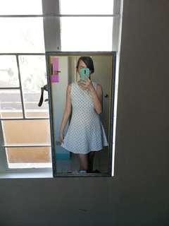 Polka dots white dress
