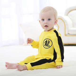 Bruce Lee Instocks Baby Costumes Romper Onesie Embroidered High Quality