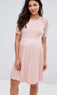 ASOS Maternity Pleats and Lace Dress