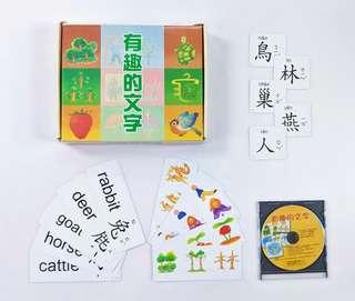 台灣出版 有趣的文字 幼兒識字咭