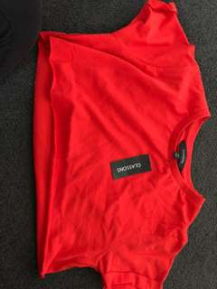 Glassons Red Crop BNWT