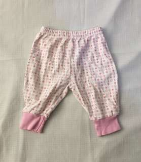 Charity Sale! Authentic hundreds + thousands Baby heart patterned pants size 3-6 months