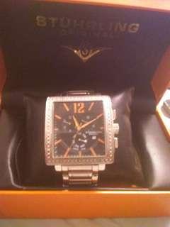 Original Stuhrling Watch with Diamonds