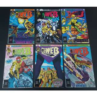 Web #1-#6 (1991 Impact Comics) Set of 6