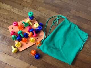 Authentic Skoolzy Montessori Peg Board