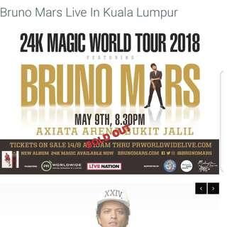 Bruno mars concert 2018