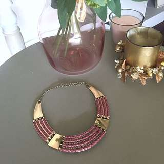 Gold & rose necklace