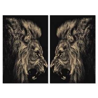 Lion Twin Acrylic Print 2 Piece