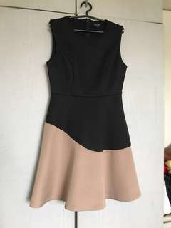 Black with beige formal dress