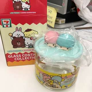 7/11 Line friends x Sanrio container jar -Little Twin star