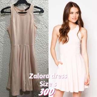 Zalora pink halter dress