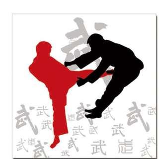 Martial Art Kicking Acrylic Print