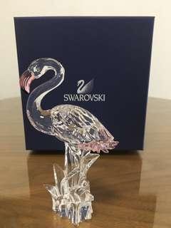 Silver Heron Bird Swarovski 水晶擺設